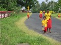 Children walking home. A simple every-day experience such as this has great interest to many from other cultures.
