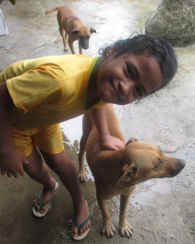 Grace - a deaf girl I taught sign language to here at Camp Samoa