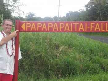 Papapapaitai Falls sign