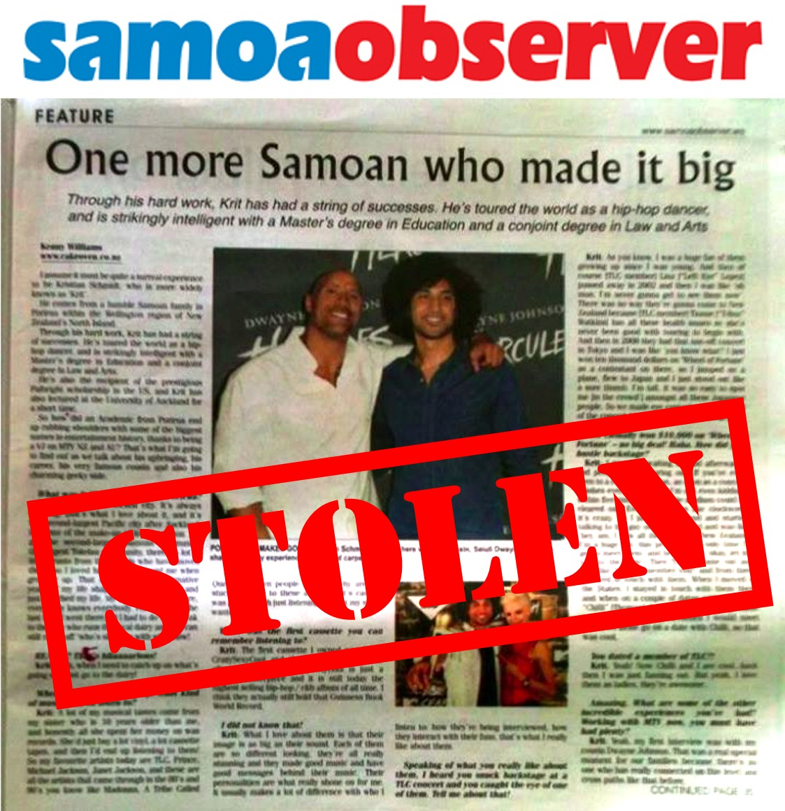 Observations on Samoa Observer