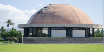 Samoan Parliament building - just after the 2012 Cyclone Evan