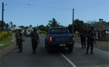 Samoan armed police during the Satapuala conflict