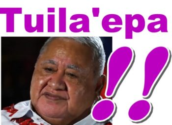 Samoa's Prime Minister Tuila'epa's final pose on the 60 Minutes programme
